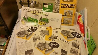 Eight 1956 John Deere Manuals. 320 Tractor, 420 Crawler, Industrial tractors