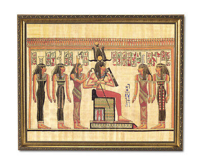 Ancient Egyptian Hieroglyphics I Kids Room Wall Picture Gold Framed Art Print