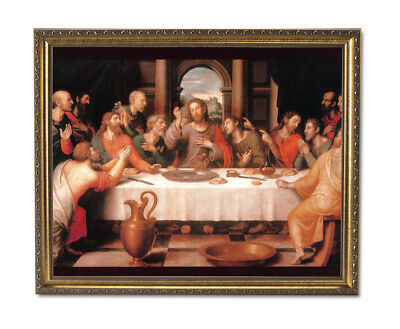 The Last Supper Jesus Christ Religious Wall Picture Gold Framed Art Print