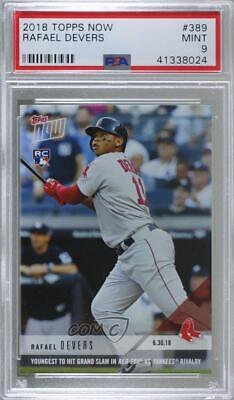 2018 Topps Now #389 Rafael Devers PSA 9 MINT Boston Red Sox Rookie Baseball Card