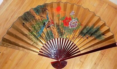 Vintage Large hand painted Chinese Fan