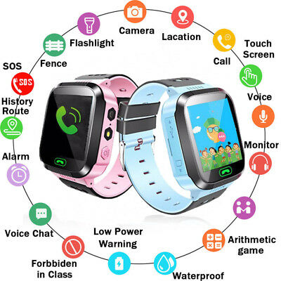 Smart Watch Phone Locator Tracker SOS Call Flashlight Camera For Kids Child
