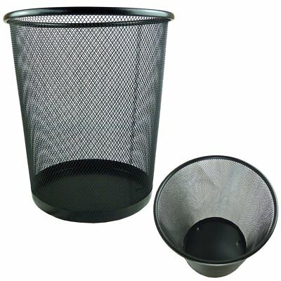 black Responsible 2 X Lightweight And Sturdy Circular Mesh Waste Bin Trash Cans & Wastebaskets Cleaning & Janitorial Supplies