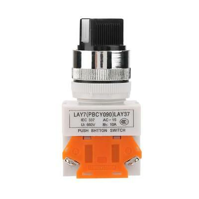 LAY37-11X/21 2-Position 1NO 1NC Maintained Select Selector Switch 22mm 220V 5A