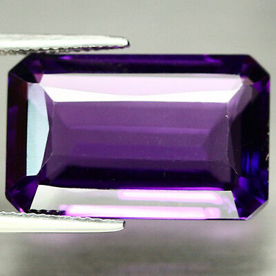 21.82 CT AAA! PURPLE CLR CHANGE TO PINK BRAZIL AMETHYST OCTAGON 14 X 22 mm.