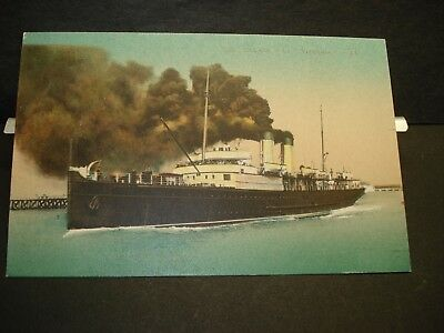 STEAMSHIP RMS VICTORIA, CALAIS, FRANCE Naval Cover WWI era unused postcard