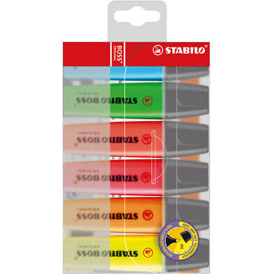 Stabilo BOSS Original Highlighter Pen - Assorted Colours (Pack of 6)