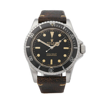 Rolex Submariner Gilt Gloss Meters First Dial Stainless Steel Watch 5513 Com1634