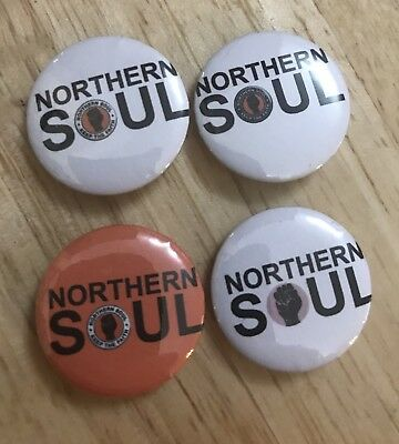 Northern Soul - KEEP THE FAITH -25mm Button Badges (set of 4)