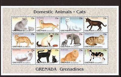 Grenada Grenadines MNH 1995 Cats,Pets,Animals sheet mint stamps