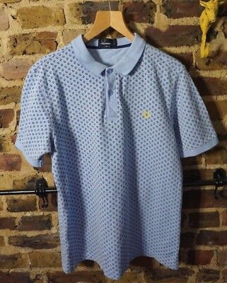 Fred Perry Light Blue Slim Fit Polo - L - Mod Ska Scooter Casuals Skins