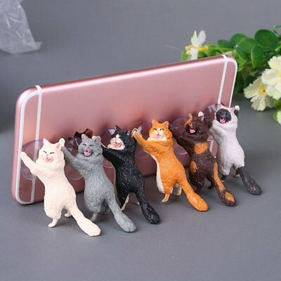 Cute Cat Cell Phone Holder Tablets Desk Car Stand Mount Sucker Bracket Universal