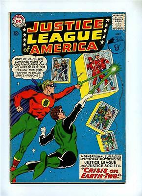 Justice League of America #22 - DC 1963 - VG- - Crisis on Earth Two - JSA X-Over