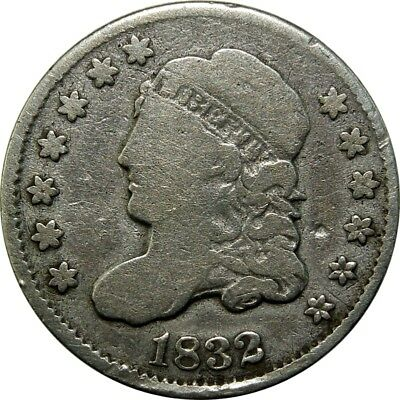 1832 H10c Capped Bust Half Dime LM-11.2 V-5 R.5, valentine 5, Rarity 5 coin