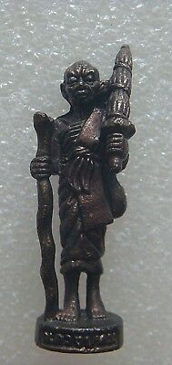 Phra Siwalee Rich Fortune Lucky Old Thai Buddha Amulet metal