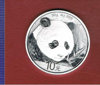 China 10 Yuan Panda 2018, Silber