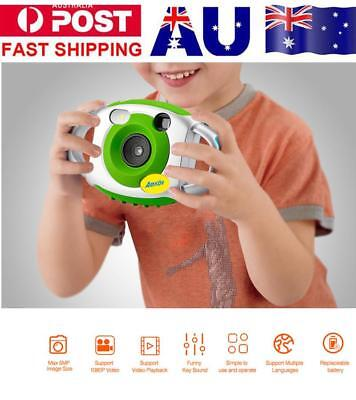 AMKOV Mini Digital Camera Color LCD 650mhA 4x Zoom Automatic Camera Kids Gift