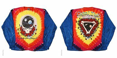 Grateful Dead-Space Your Face-Syf-Tie Dye Long Sleeve-2 Sided Tshirt M-L-Xl-Xxl