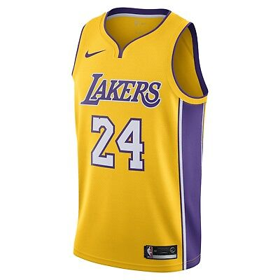 c6c3e5bf9 Nike Los Angeles Lakers Kobe Bryant 24 Icon Authentic Jersey Size L  AQ2109-728