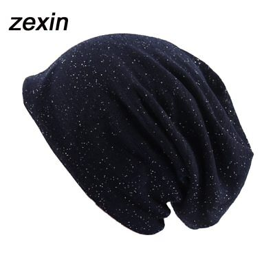 AMHair® Spring Autumn Knitted Hat Beanies With Rhinestone Women Lady Lwo Layers