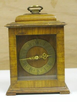 Antique Small Mantle Bracket Clock With Rotherhams English Movement In