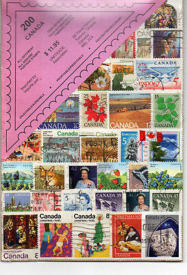200 Different Used Canada Stamps