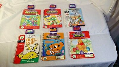 Leap Frog Leap Pad Learning System Lot of Matching Books & Game Cartridges