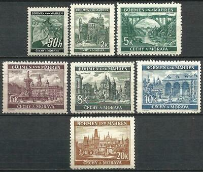 Germany (Third Reich) 1940 MNH - Bohemia Moravia Defins. Lindenzweig Landscapes