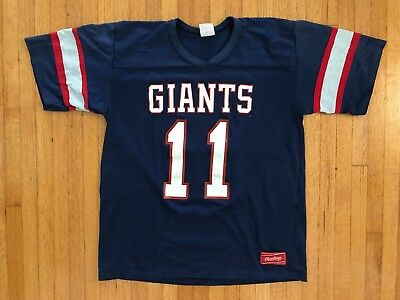 VINTAGE 80s NEW YORK GIANTS T-SHIRT JERSEY STYLE SZ M SOFT BROKEN-IN 90s 1980s