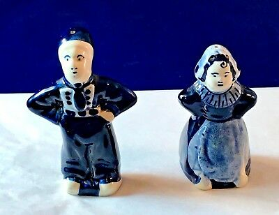 "DELFT BLUE - Salt & Pepper Shakers - 2-3/4"" - ELESVA HOLLAND"