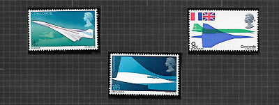 GB 1969 SG784-786 First Flight Of Concorde MNH