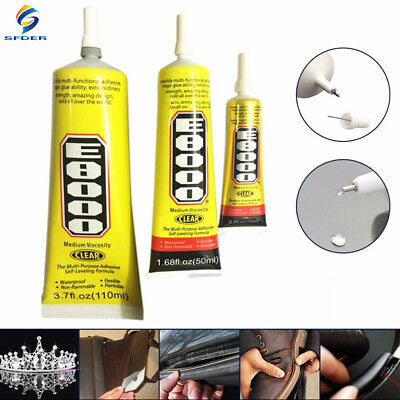 15-50-110ml E8000 Clear Glue Adhesive Sealant Waterproof For Clothes Shoes Phone