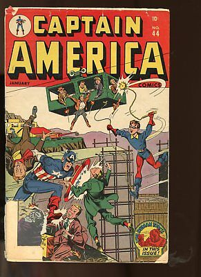 Captain America Comics #44 Fair / Good 1.5 (Fr/gd) 1945 Atlas