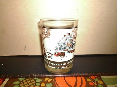 Arby's Drink Glass Currier & Ives American Homestead Winter 1970's Lot#119