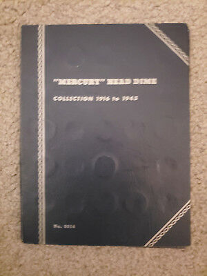 1916-1945 Mercury Head Silver Dime 51 pc Coin Collection Whitman 9014