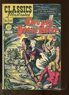 Classic Illustrated #41 Very Good 4.0 (Vg) 1947 Twenty Years After Hrn 41