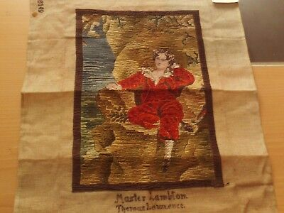 """Vintage Tapestry Unframed Picture """"Master Lambton"""" The Red Boy Thomas Lawrence."""