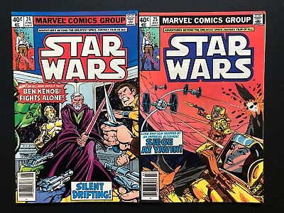 Vintage Marvel Star Wars Comic Book Issues 24 25-Lot 2 High Grade-See My Store!