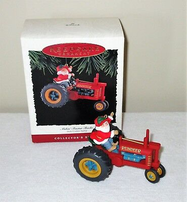 1994 Hallmark Keepsake Ornament MAKIN TRACTOR TRACKS Here Comes Santa Vtg