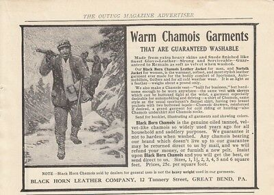 1907 Black Horn Leather Co Great Bend PA Ad: Warm Chamois Garments Jackets