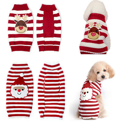 chien chaud chandail Noël vêtements décorations tricot costume manteau NEW