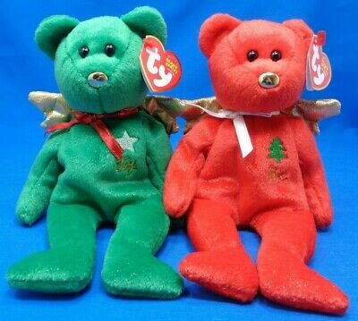 Ty Beanie Baby Babies ~ GIFT the ANGEL BEAR (Green Version) ~Plush~MWMTs~Retired