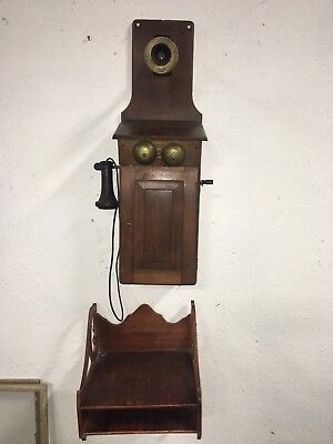Western Electric American Antique Oak Crank Telephone 250 Watts Larger Size W Wr