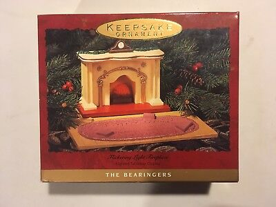 NEW- 1993 The Bearingers Flickering Light Fireplace Hallmark Keepsake Ornament