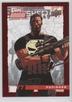 2016 Upper Deck Marvel Annual Red #77 Punisher Non-Sports Card 5x5
