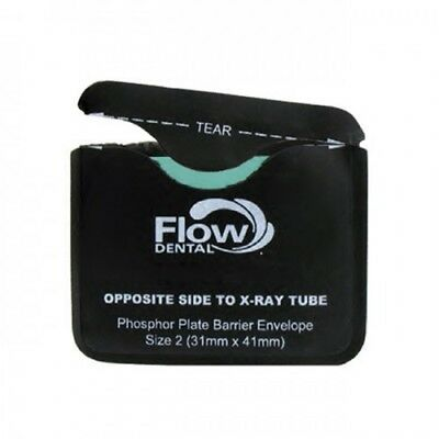 Flow X-Ray Dental 80120 Safe 'n' Sure Phosphor Plate Barrier Envelopes #2 300/Pk