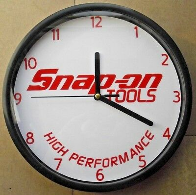 SNAP - ON   high performace tools logo sign wall clock ideal in garage/mancave