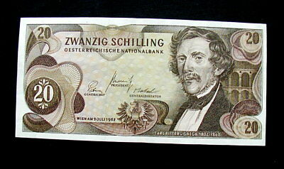 1967 AUSTRIA Banknote 20 schilling XF HIGH QUALITY