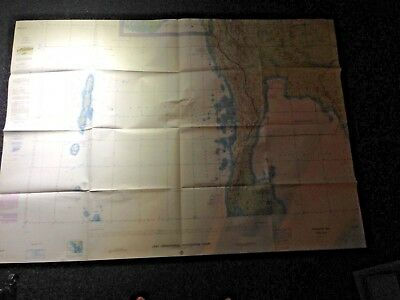 1965 Vietnam War USAF Operational Navigation Chart/Map Gulf of Siam/Adaman Sea