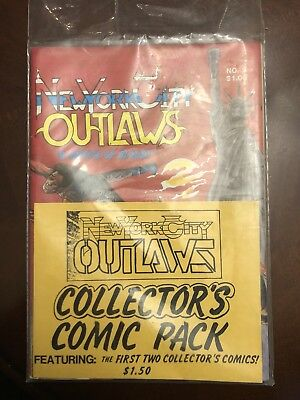 1984 New York City Outlaws Comic Book #1 And #2 Collectors Pack.